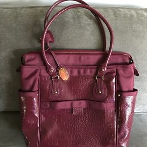 Samsonite Carry-on Tote/Laptop section Burgandy